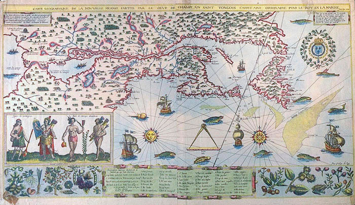 Champlain Map of North America 1612