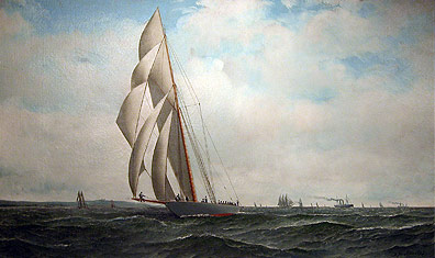 Sloop Yacht 'Defender'