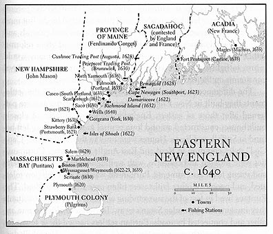 Eastern New England C Penobscot Bay History Online - Map of eastern maine