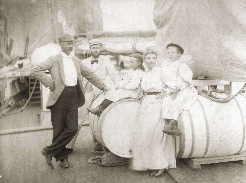 W. R. Gilkey family aboard ship