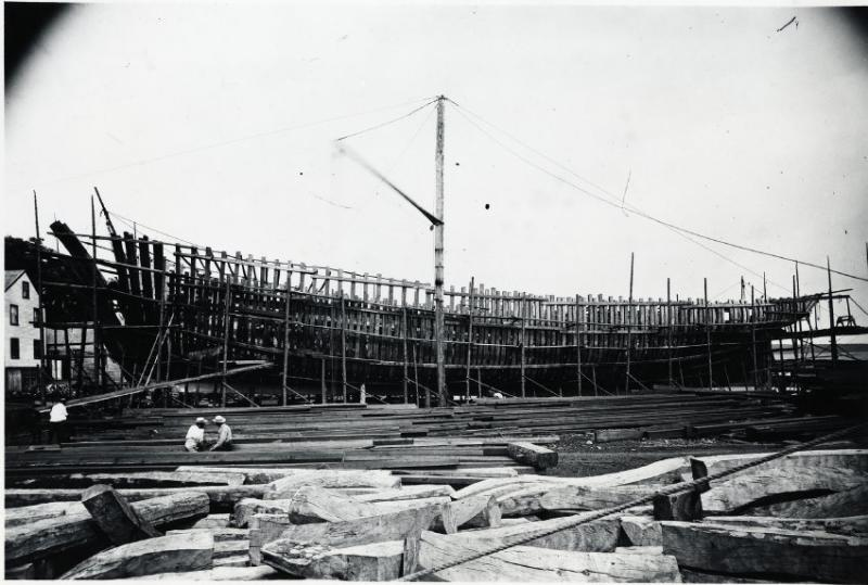 Schooner Georgia Gilkey under construction