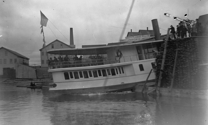Launch of Steamer 'Tremont'