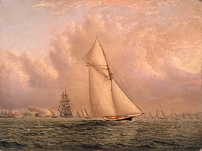New York Harbor Scene