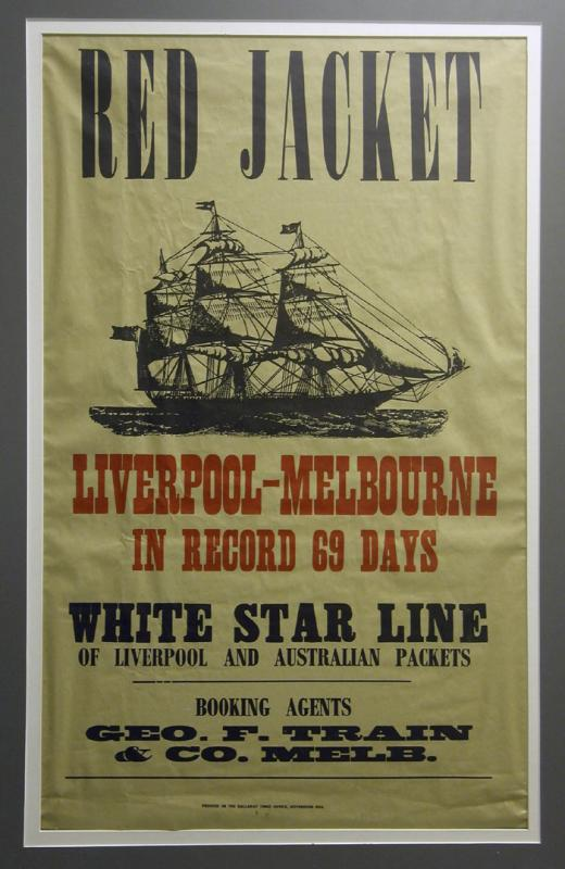 Poster Advertising Clipper Red Jacket