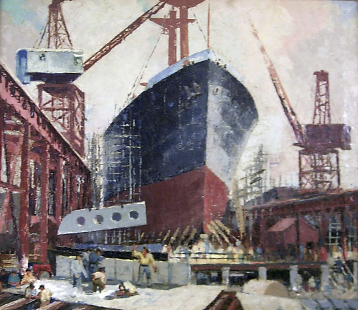 Shipyard By Carroll Thayer Berry
