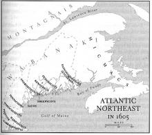 Atlantic Northeast in 1605