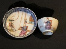 Chinese ceramic tea bowl and saucer
