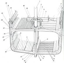 Cross-Section of Schooner Bertha L. Downs, at the Main