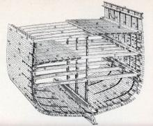 Cross-Section of a Wooden Sailing Ship