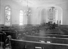 First Congregational Church, Searsport. Interior.