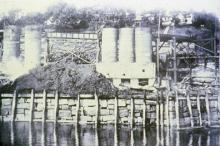 Lime kilns in Rockport Harbor