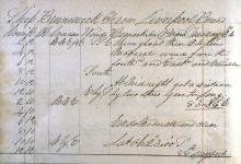 Log Entry for the Ship Brunswick, 1844