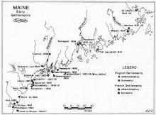 Maine 17th century settlements