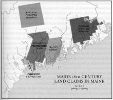 Major 18th Century Land Claims in Maine