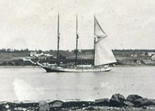 Tern schooner with lumber